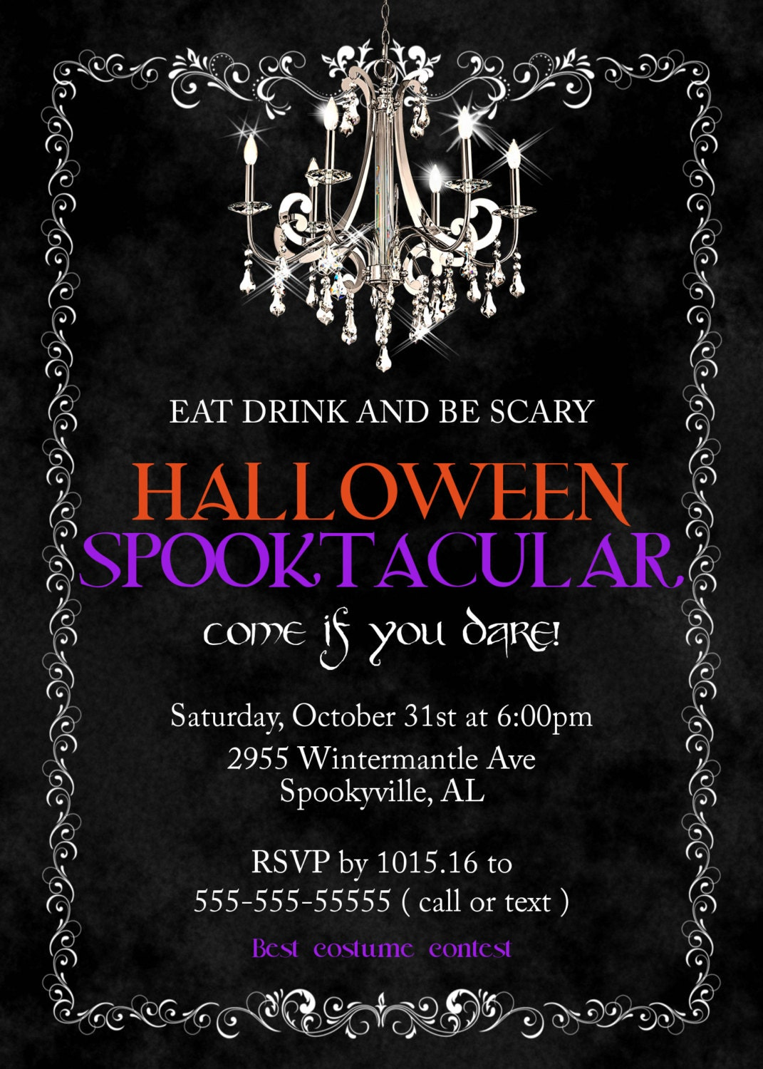 Halloween Party Invitation Spooktacular invitationsHalloween – Scary Party Invitations