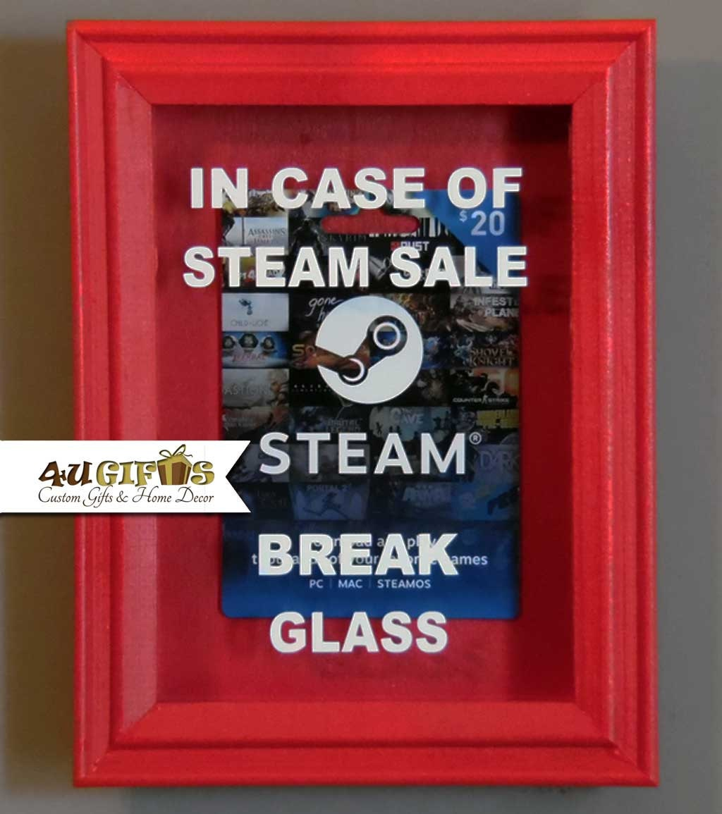 In Case Of Steam Sale Break Glass Shadow Box By 4ugiftsonline
