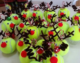 Tennis Ball Reindeer Ornament