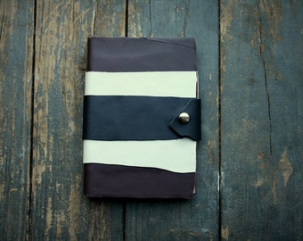 Brown White and Black Leather Sketch Book