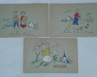 Vintage French Easter postcards