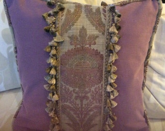 20in purple napped cotton pillow cover with insert
