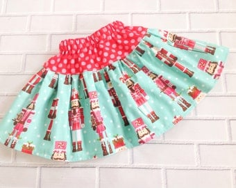Girls Christmas Skirt Handmade Boutique Clothing