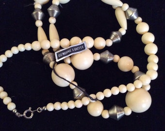 Lucite necklace 30 in