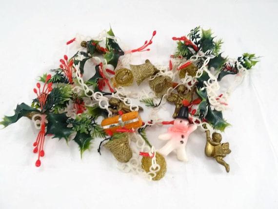 Vintage plastic filigree christmas garland