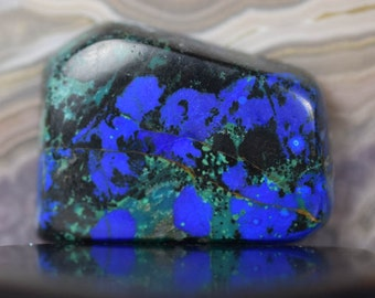 Azurite Malachite Cabochon from Bisbee Arizona