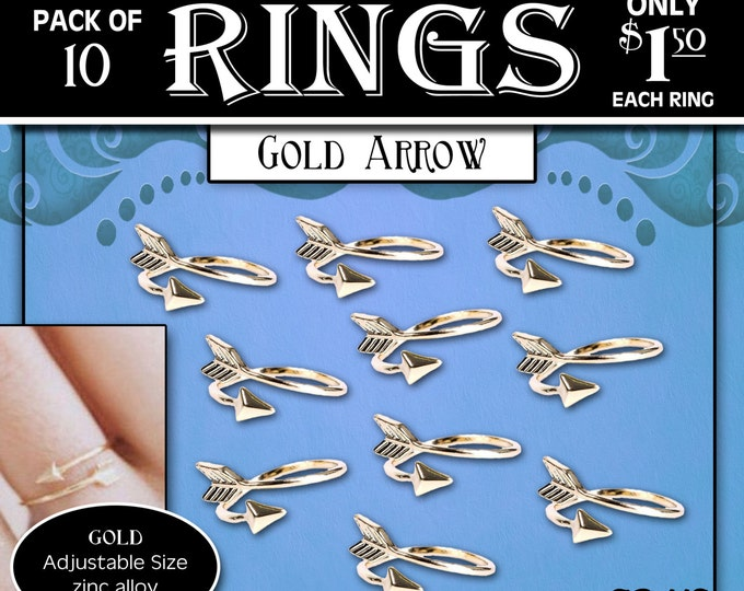 "Arrow Rings Pack of 10 rings only 1.50 each ""Press Forward with a Steadfastness"" 2016 mutual theme silver YW Young Women ring or charm"