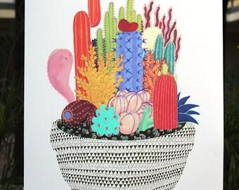 "XL Ghostly Garden Print - 18"" x 24"""
