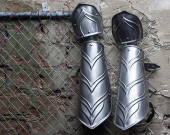 LARP Elven Steel Armor Bracers - Pair