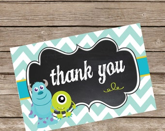 Monsters Inc Thank You Card