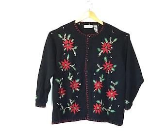 Vintage Christmas Sweater, Ugly Christmas Sweater, xxl, Tacky Christmas sweater, xl, Retro Christmas Sweater, Large Christmas