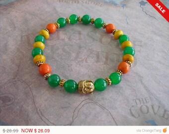 Beautiful golden Buddha bracelet