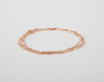 Bracelet Rosegold Ball Chain Plated  Gold Plated  Ballchain Rosegold Plated Beads Bracelet