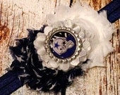 Dallas Cowboys Headband for babies and ladies of all ages!! Dallas Cowboys Hair Bow - Cowboys Girls Headband