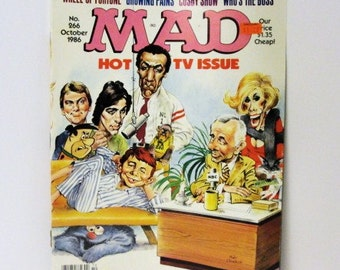 The Cosby Show Nasty File Mad Magazine NO. 266 Hot TV Issue, Wheel of Fortune Who's The Boss