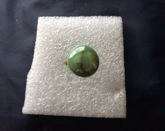 Green grass glass ring