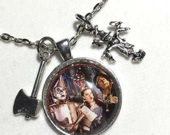Wizard of oz, wizard of oz jewelry, dorothy, scarecrow, tin man, oz, movie jewelry