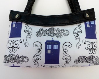 Doctor Who - TARDIS Damask - Purse Skirt ONLY for Thirty-One Skirt Purse