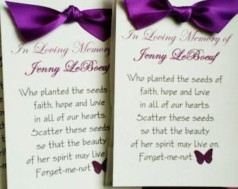 Memorial Seed Packet Favor
