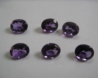 Wholesale Lot 25 Pcs. Natural Amethyst Oval Faceted Cut Loose Gemstone For Jewelry