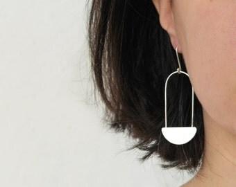 Sterling silver geometric earrings drop earrings - AME D'ARGENT