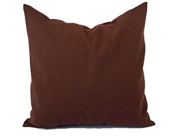 Two Solid Brown Pillow Covers - Brown Couch Pillow Covers - Throw Pillow Covers - Brown Toss Pillow - Decorative Pillow - Solid Brown Pillow