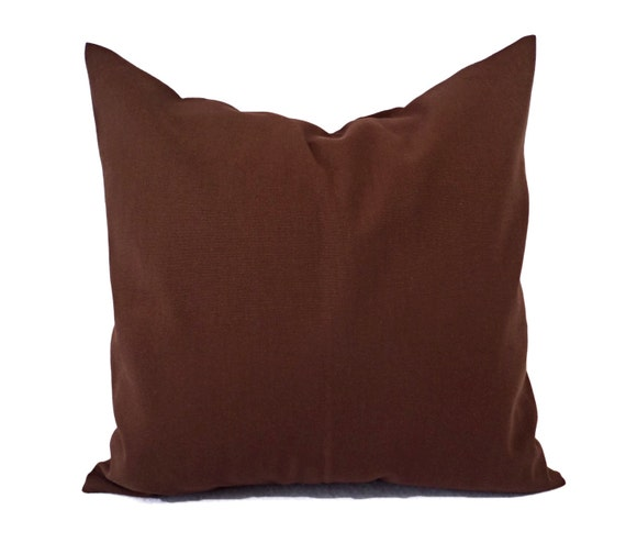 Two Solid Brown Pillow Covers Brown Couch Pillow Covers