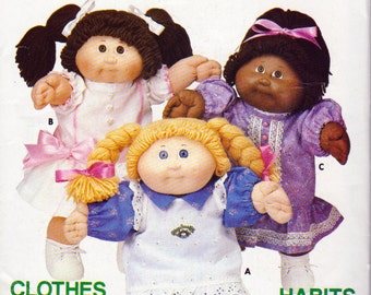 Cabbage Patch Kids Dress and Pinafore Pattern, Butterick 6934 aka Butterick 6394, cabbage Patch Clothes, Uncut with Transfers, Vintage 1984