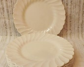 40s Antique Myott Staffordshire Olde Chelsea Salad Plates Set