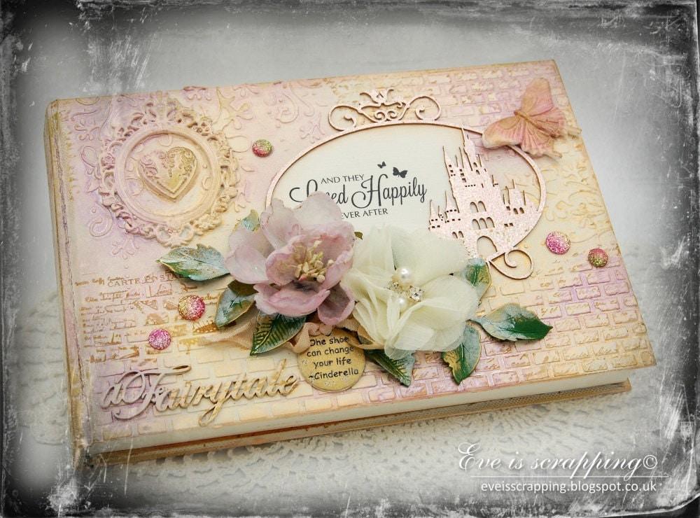 Custom Shabby Chic Cinderella Disney Wedding Guest Book With