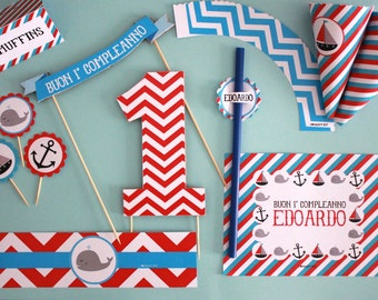 Vintage nautical Party kit