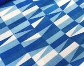 Swedish 50s geometric Sven Markelius Prisma blue vintage fabric high quality