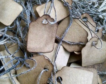 """50 XS Scalloped Tags, SALE, slightly IMPERFECT, jewelry tags, 3/4"""" x 1 3/4"""""""
