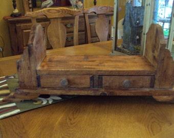 Vintage Wooden Desk Organizer