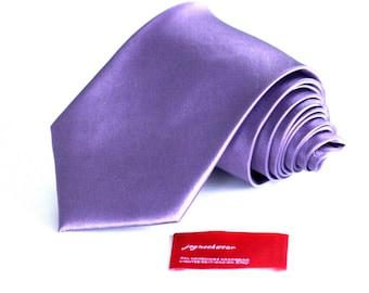 Skinny or Regular Iris Mauve Purple Silk Solid Tie