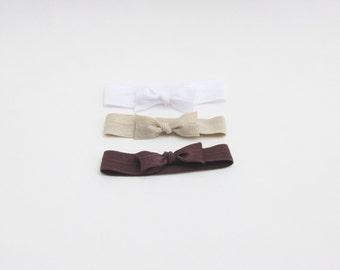 Cloth Hair Ties - Neutrals Brown - Hair Ties - Set of 3