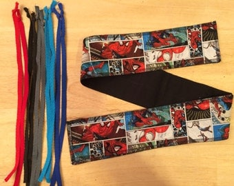 Choose Your color of tie Spider-Man cross fit Wrist Wraps