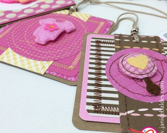 Baby Girl Gift Tags | Set of 5