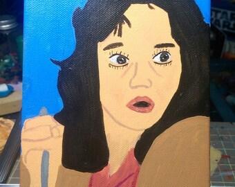 Jessica Harper Suspiria 5x7 painting