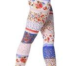 50% SALE Printed leggings,  yoga pants - Colored Floral Leggings - Womens Legging  - Flowers Leggings - Printed Tights - Fall Tights