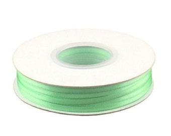 1/8 Inch Double Faced Satin Ribbon - Mint - 100 Yard Spool