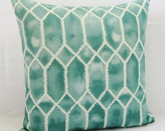 Teal Green Pillow Cover Seafoam Spa Green Aqua Aquamarine Decorative Throw 16x16 18x18 20x20 22x22 12x14 12x16 12x18 12x20 14x22 Zipper