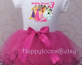 Disney princess tutu set, princess party, princess birthday