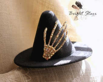 felt witch hat - hat halloween - childs witches hat - cute witch hat - girls witch hat - hats for halloween - witch hat - baby witch hat