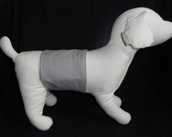 Male dog belly band diaper in the SOLID GRAY print - your choice of size - S, M L, XL