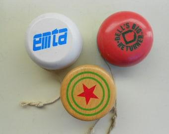 Vintage Wooden Yo-Yo Collection