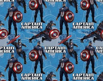 Captain America cotton fabric