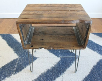 "The ""Holland"" -  Reclaimed Wood Nightstand"