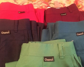 """SALE Deadstock Chinos, Flat-Front Pants, 5 Different Colors, All 26"""" Waist"""