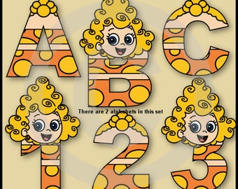 Deema (Bubble Guppies) Alphabet Letters & Numbers Clip Art Graphics